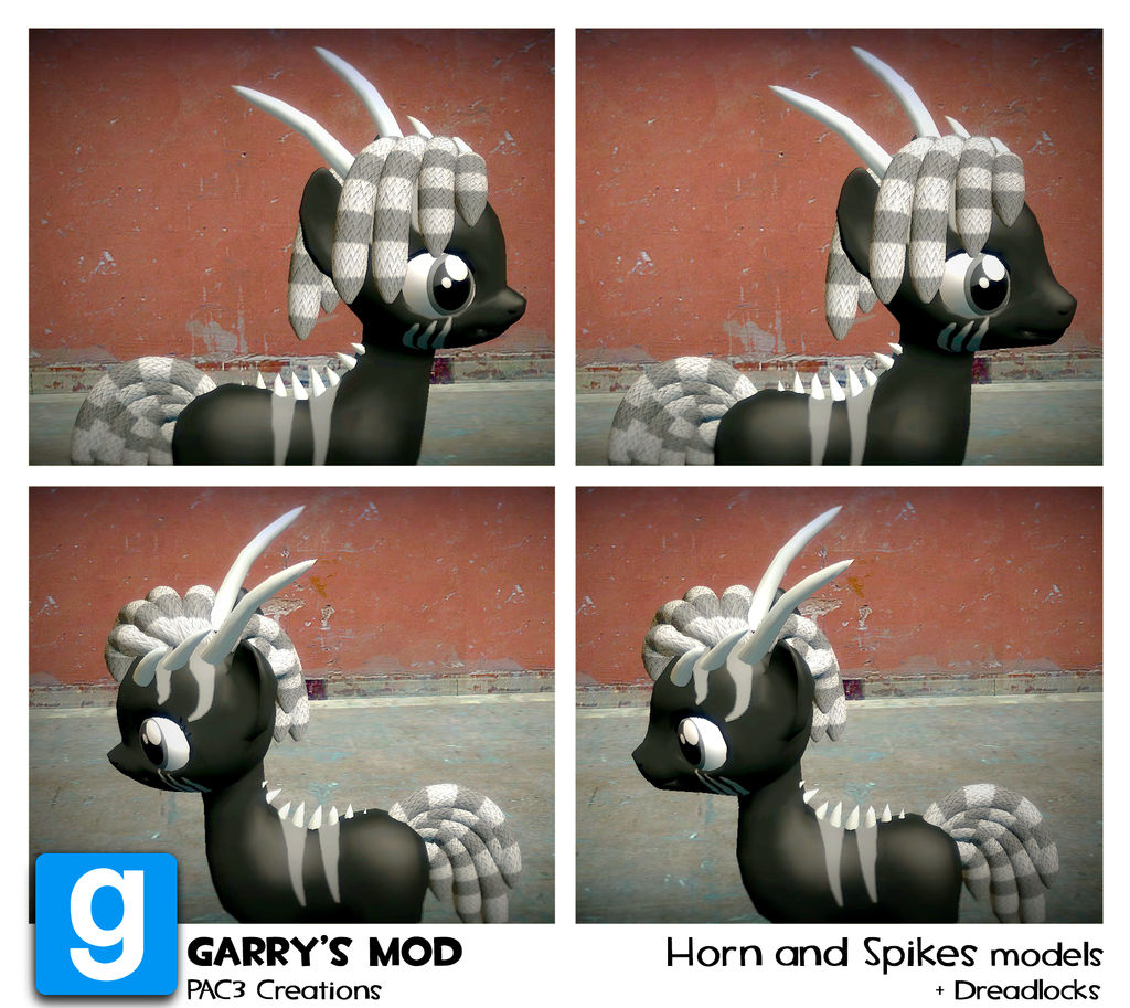 PAC3 | MLP| Horns and spikes model + Dreadlocks by