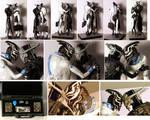 Mass Effect - Saren and Nihlus sculpture - details