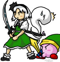 Touhou - Youmu and... by Minon
