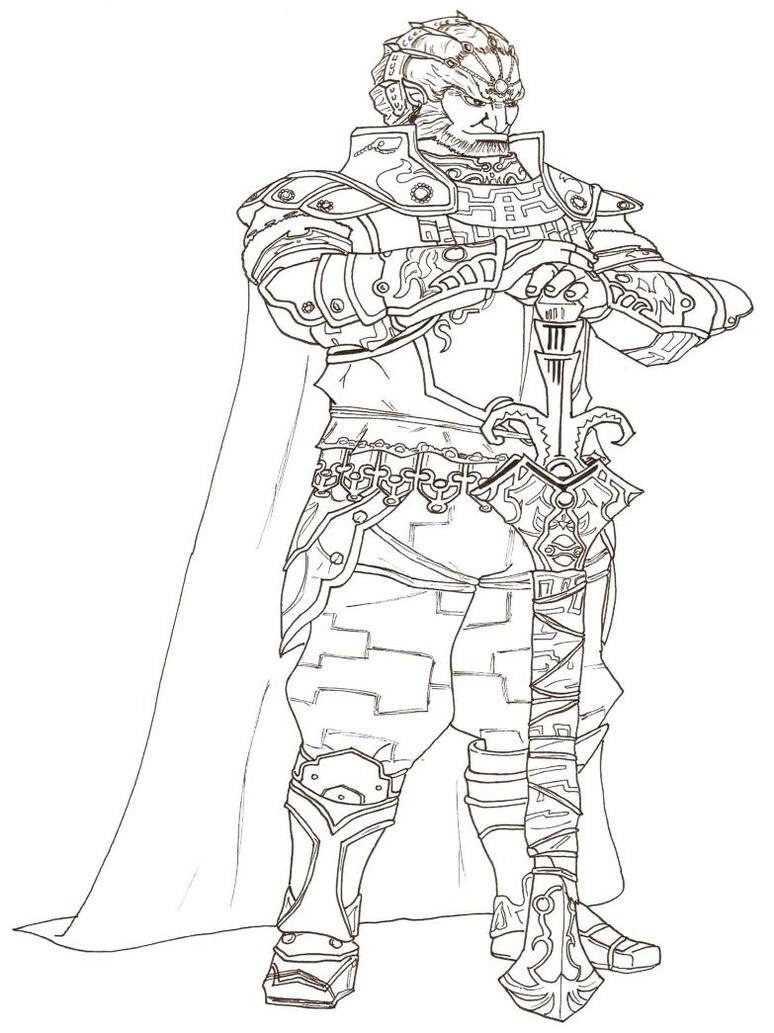 ganondorf coloring pages - photo#8