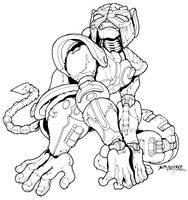 Optimus Minor Beast Mode inks by REX-203