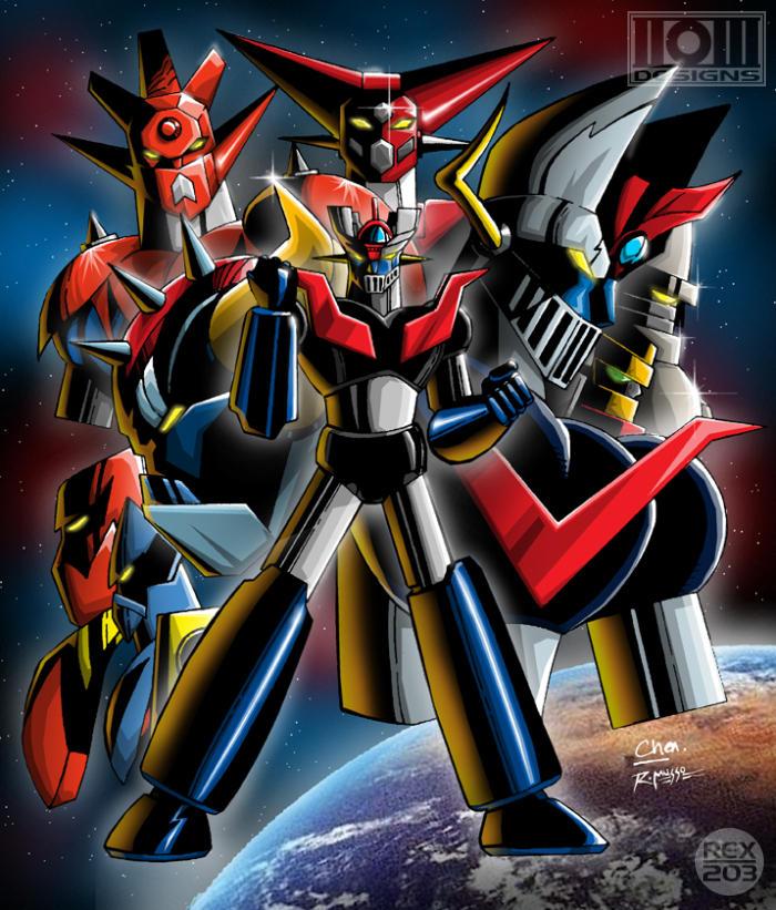 Voltes V Cartoon Characters : Go nagai s super robots by rex on deviantart