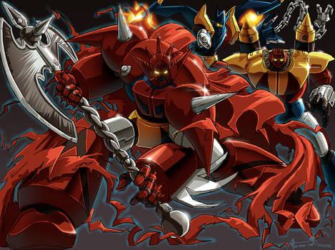 Omni X's Getter Robo G colored