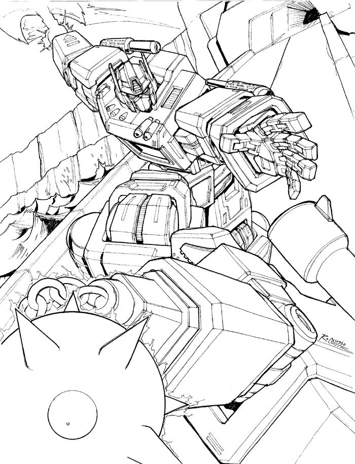 optimus prime vs megatron by rex