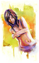 Colorful Asian Woman by studiomuku