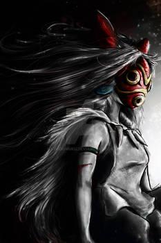 Mononoke Hime - San Digital Painting Color Pop