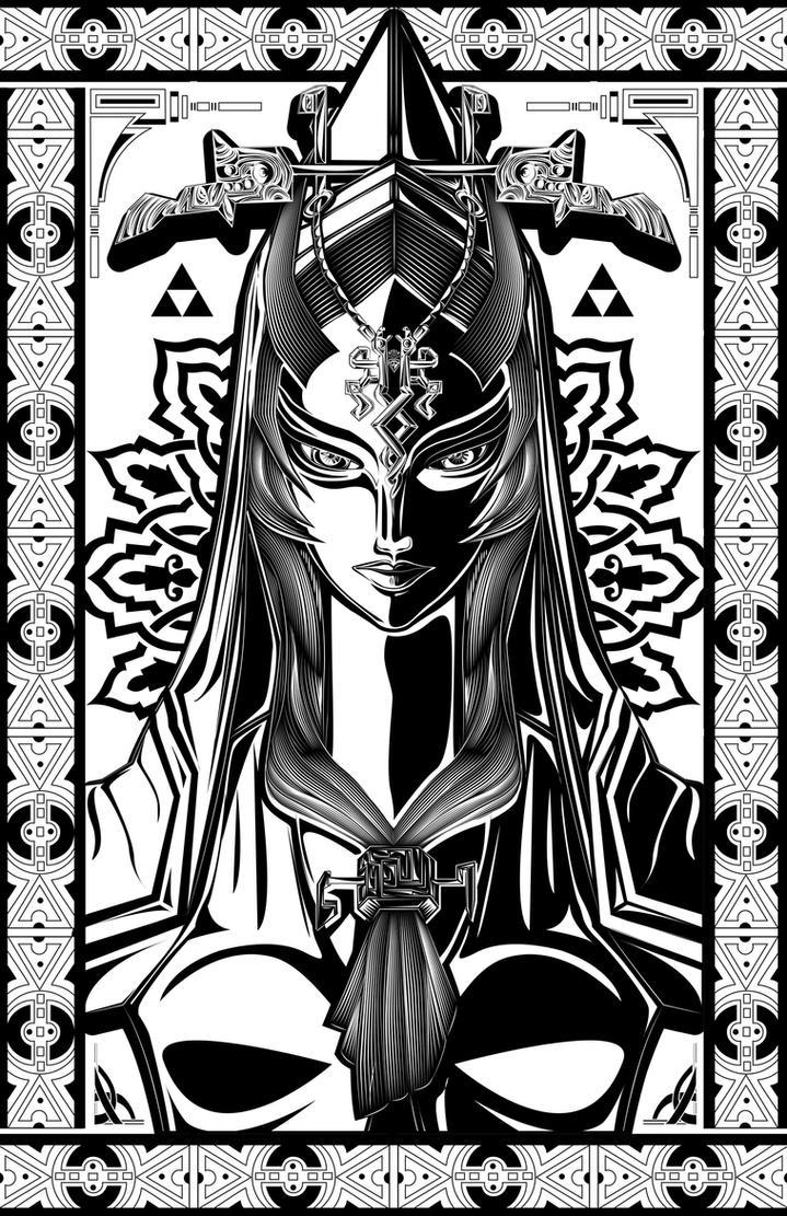 Legend Of Zelda Midna The Twilight Princess Art By