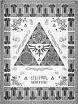 Legend of Zelda Triforce of Hyrule Letterpress