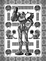Samus Aran Metroid Geek Line Artly by studiomuku