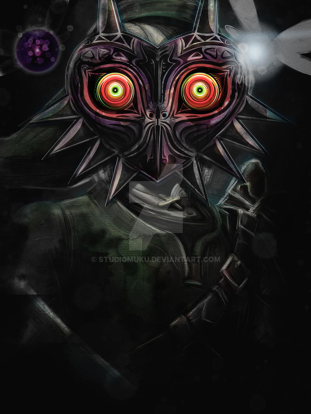 The Darkness of Majora's Mask by studiomuku
