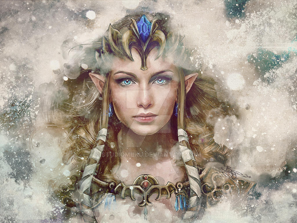 Legend of Zelda Epic Princess Painting by studiomuku