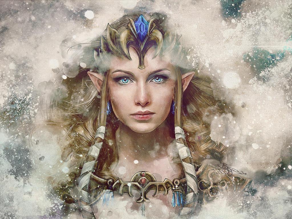 Legend of Zelda Epic Princess Painting