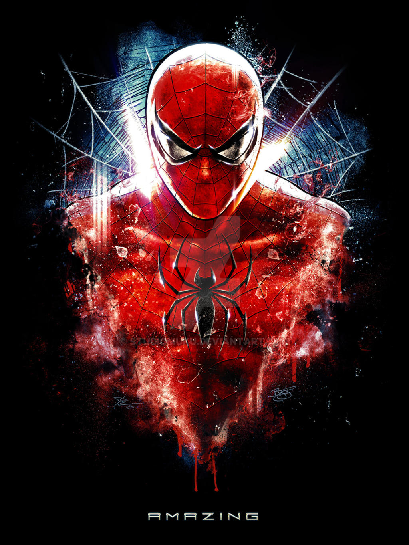 spiderman inspired epic portrait painting by studiomuku on deviantart