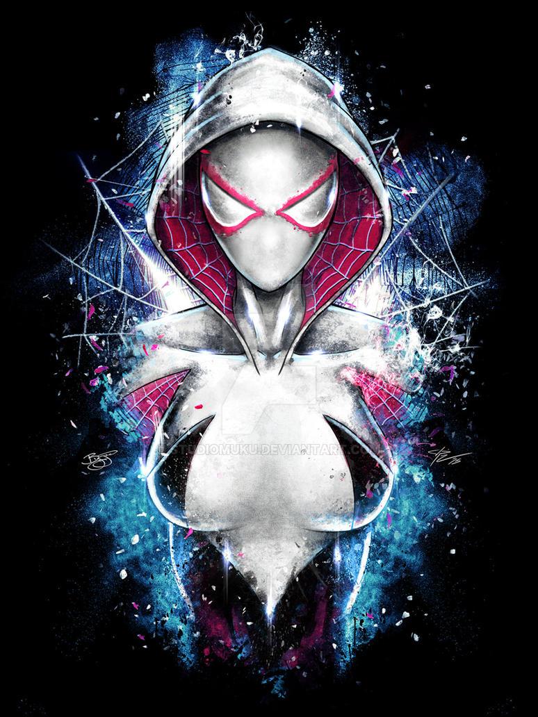 Spiderman Spider Gwen Inspired Epic Portrait by studiomuku