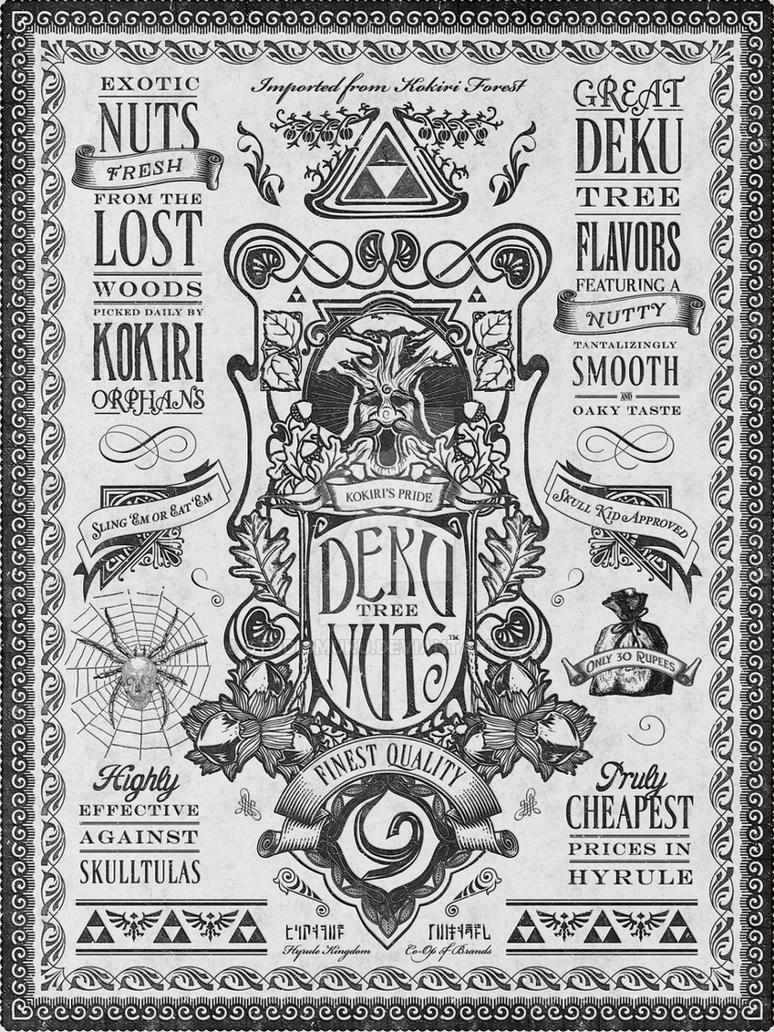 Legend of Zelda Deku Nuts Vintage Advertisement by studiomuku