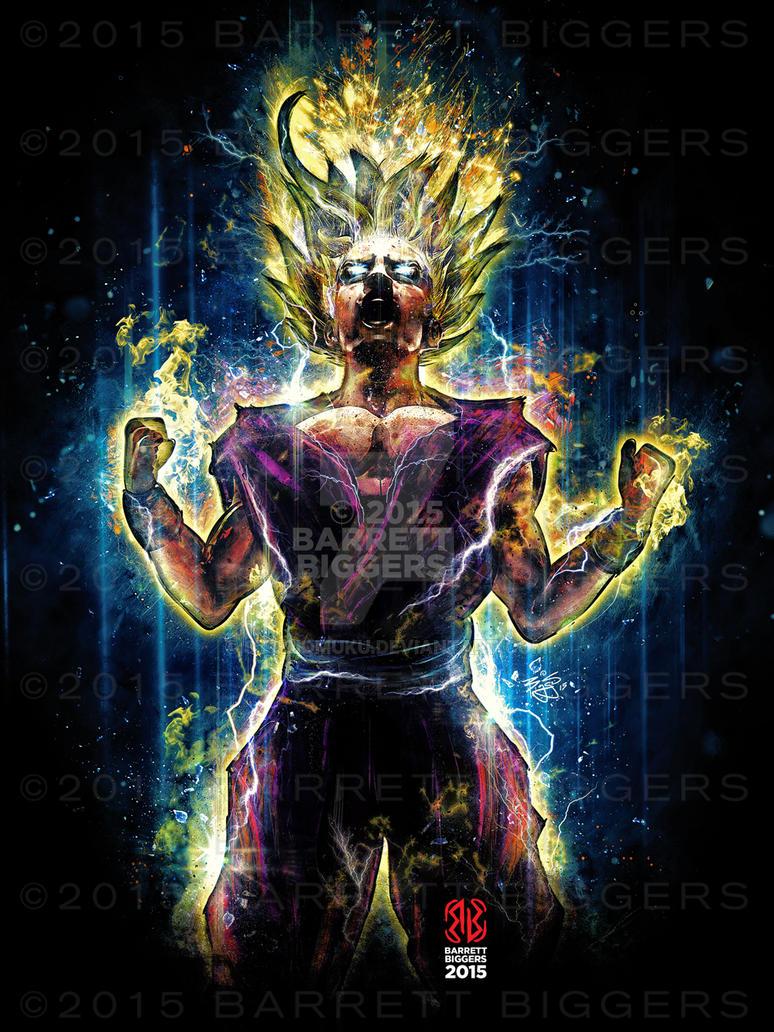 Epic Super Saiyan 2 Gohan by studiomuku