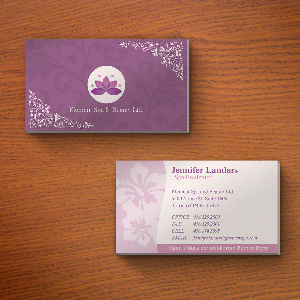 Element Spa And Beauty Business Card Mockup by ambdesignsph