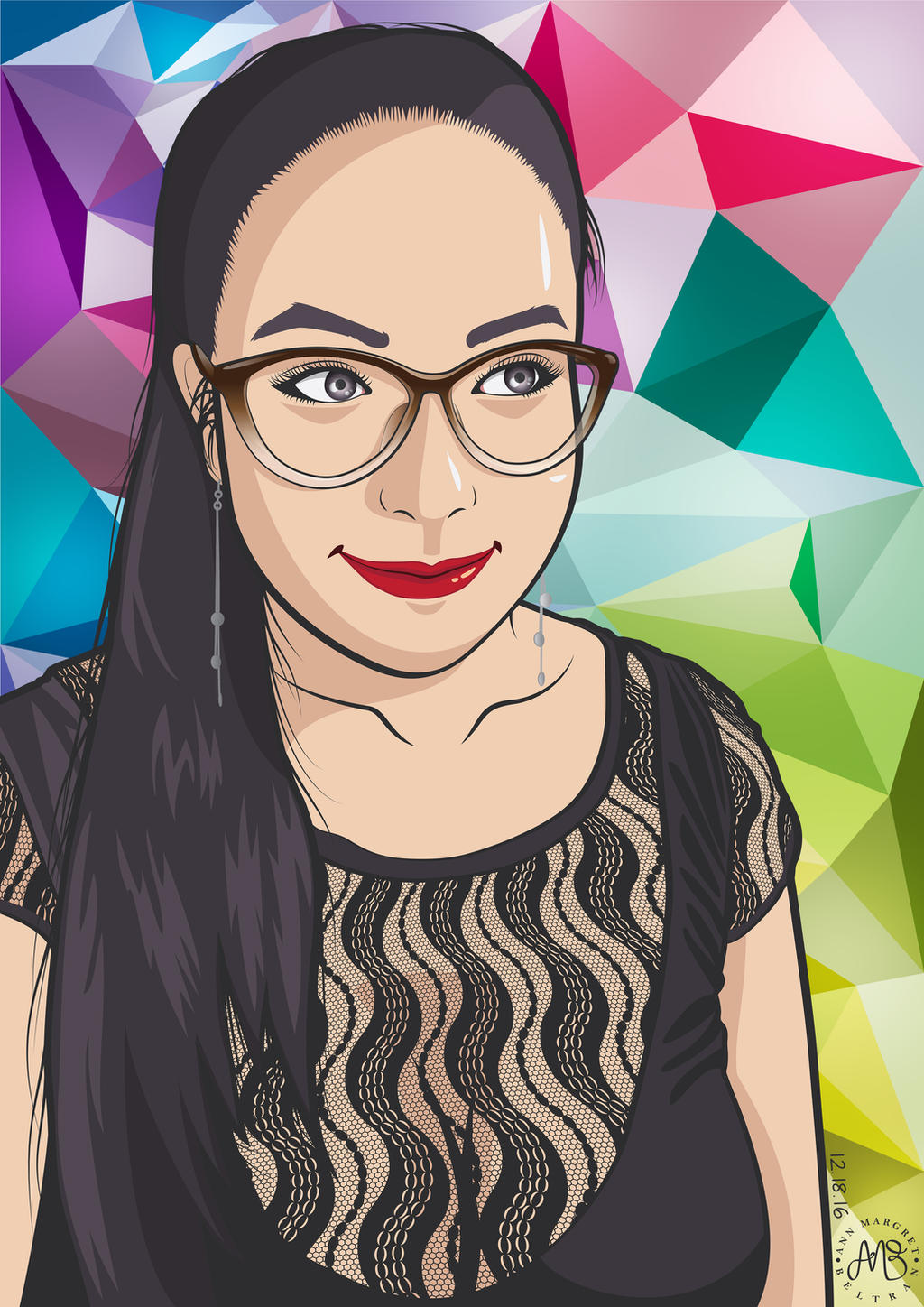 Mommy Ann Self-Portrait Vector Version 2.0 by ambdesignsph