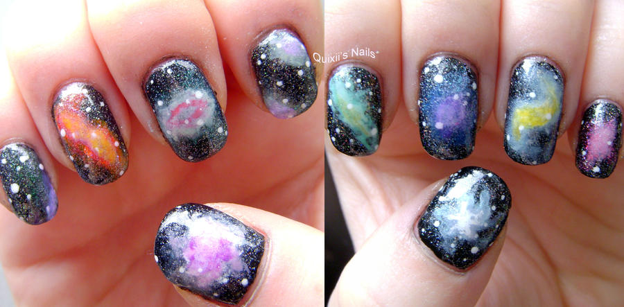 Galaxy Nail Art by quixii on DeviantArt