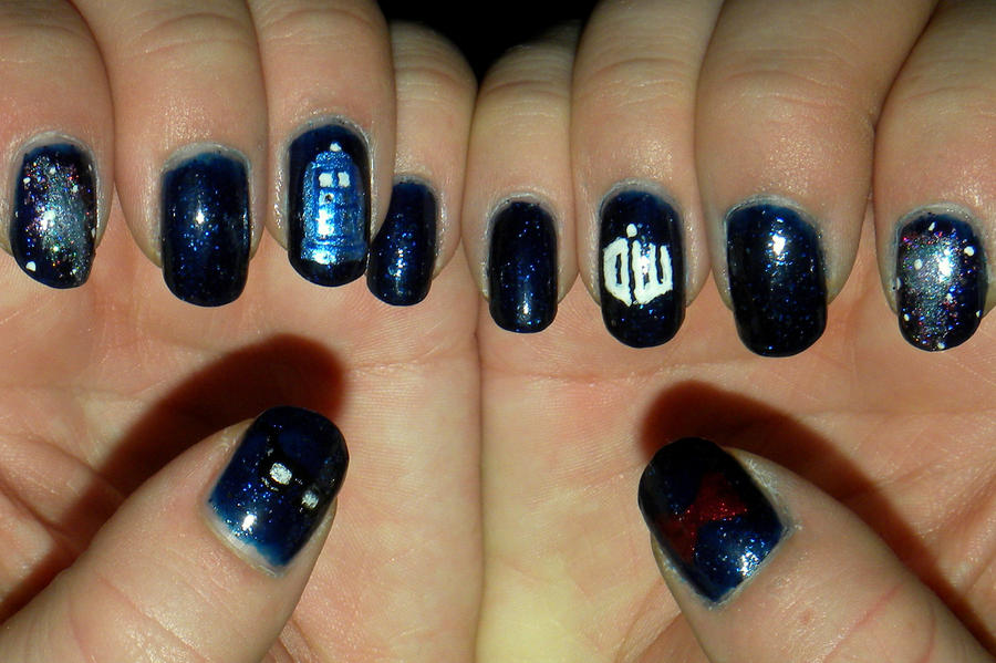 Tardis Nail Art By Quixii On Deviantart