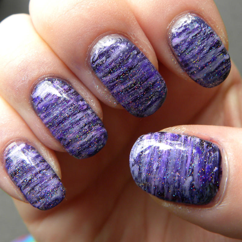 I\'m A Fan of Purple Nail Art by quixii on DeviantArt