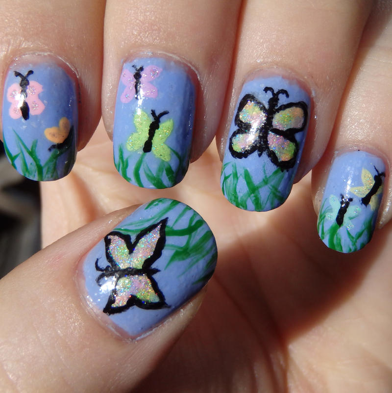 Butterfly Nail Art: Butterfly Nail Art By Quixii On DeviantArt