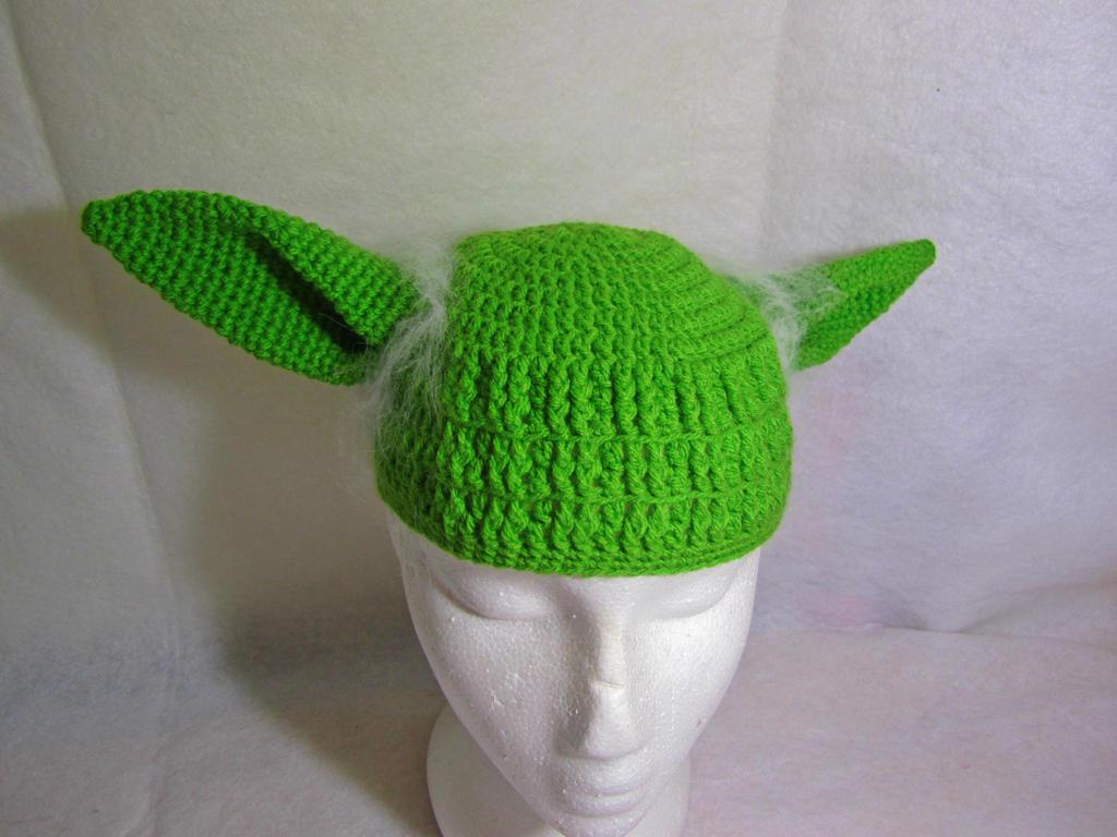 Crochet Yoda Hat by gardensofmay
