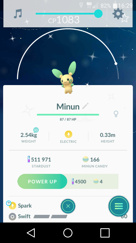 Shiny Minun In pokemon Go by Damian31214