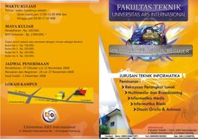 Brosur ARS Teknik Informatika by spiderio