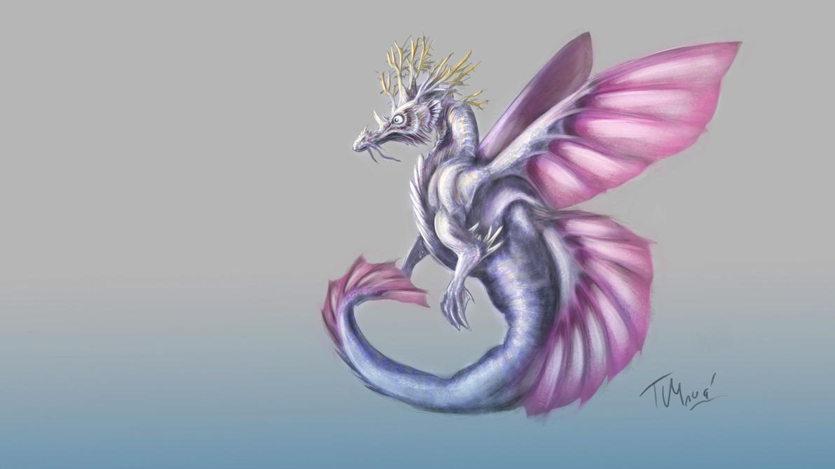 Seahorse Dragon by PwnageKitten