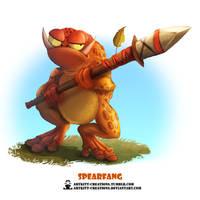 Tribal Frogs 01 - Spearfang by ArtKitt-Creations