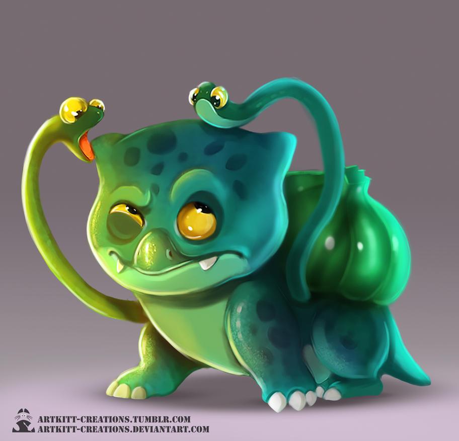 Kanto -  Bulbasaur by ArtKitt-Creations