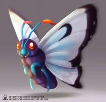 Kanto - Butterfree by ArtKitt-Creations