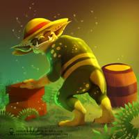 Mordrem spoofs - Troll Beekeeper by ArtKitt-Creations