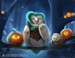 Pokectober - Owlies by ArtKitt-Creations