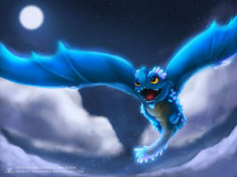 Aurene's Flight by ArtKitt-Creations