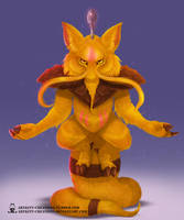 Kanto - Kadabra by ArtKitt-Creations