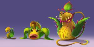 Pokemon - Bellsprout line by ArtKitt-Creations