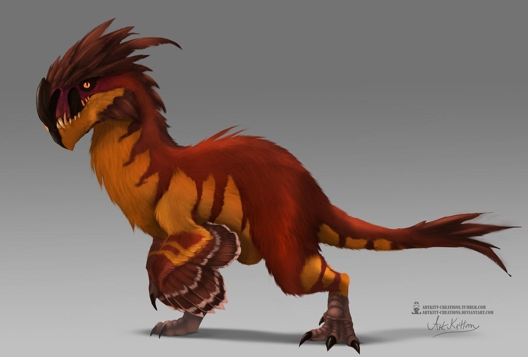 Concept - Guild Wars 2 Feathered Raptor skin by ArtKitt-Creations