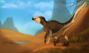 Desert Raptor by ArtKitt-Creations