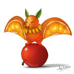 creature doodle #9 fruit bat