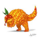 creature doodle #12 mango pangolin