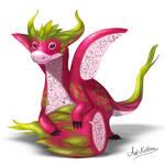 creature doodle #14 dragonfruit dragon