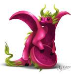 creature doodle #15 red pitaya dragon