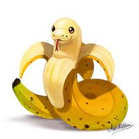 creature doodle #18 banana snake by ArtKitt-Creations