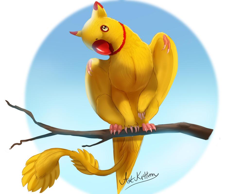 creature doodle #25 ring parrot griffon by ArtKitt-Creations