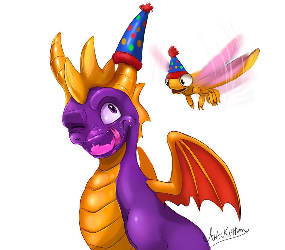 Happy Birthday Spyro! by ArtKitt-Creations