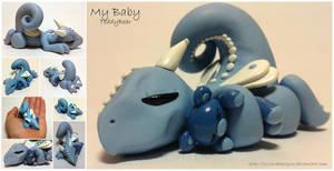 My Baby Blue Teddy Bear Dragon