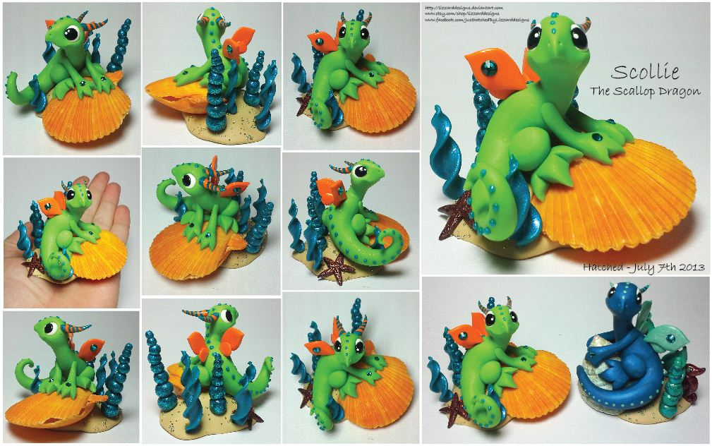 Scollie the Scallop Dragon by lizzarddesigns