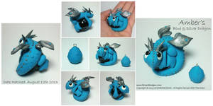 Amber's Blue and Silver Dragon